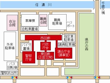 県庁周辺拡大地図・県庁構内地図 - 新潟県ホームページ