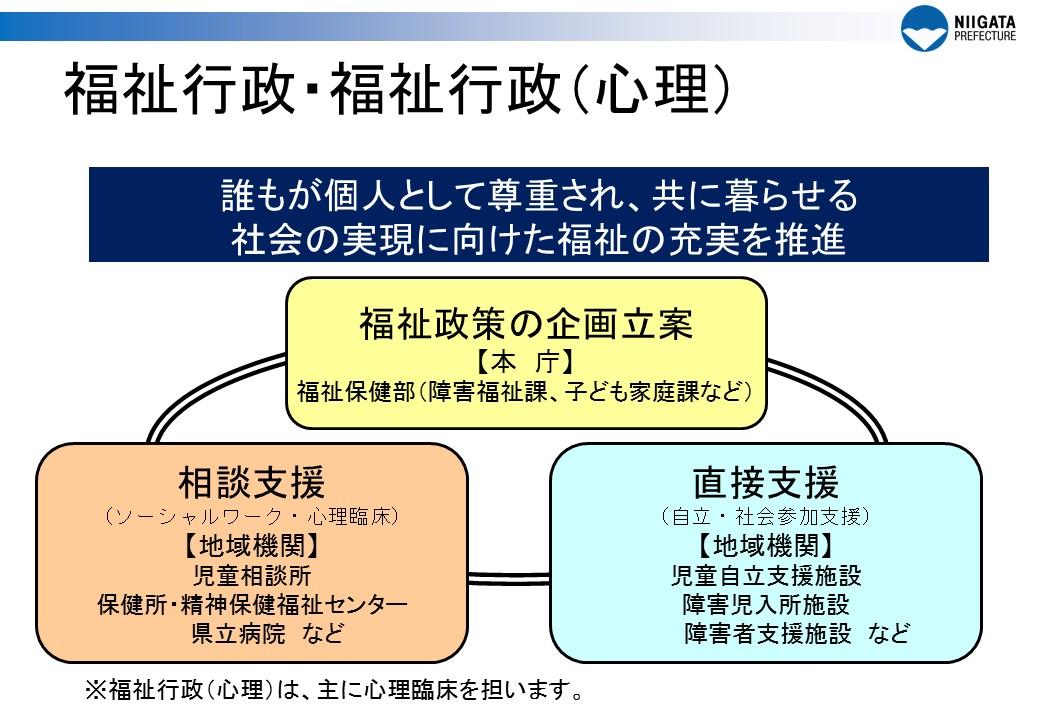 職種別の仕事内容:福祉行政・福祉行政(心理) - 新潟県ホームページ